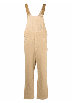 Carhartt WIP logo-patch organic cotton overalls - Brown
