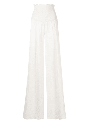 Alexis Carew creased-effect trousers - White