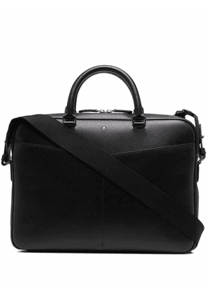 Montblanc grained leather briefcase - Black