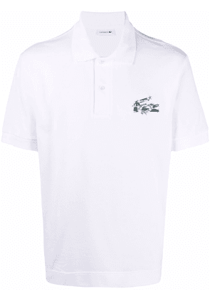 Lacoste patch style logo polo shirt - White