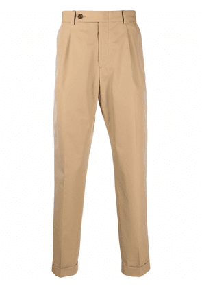 Alexander McQueen cropped tailored trousers - Neutrals