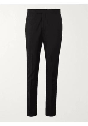 PAUL SMITH - Slim-Fit Satin-Trimmed Wool and Mohair-Blend Tuxedo Trousers - Men - Black - UK/US 28