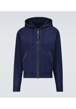 Double-faced hooded sweatshirt