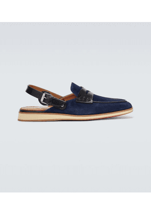 Tricoto suede mules