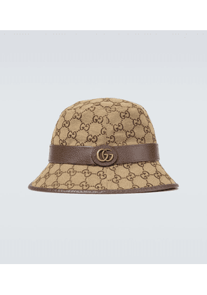 GG canvas fedora hat