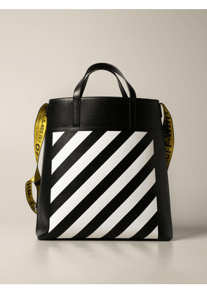 Off White Diag bag in saffiano leather with diagonal print