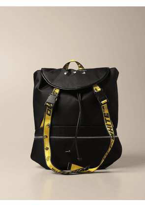 Off White nylon backpack with logo
