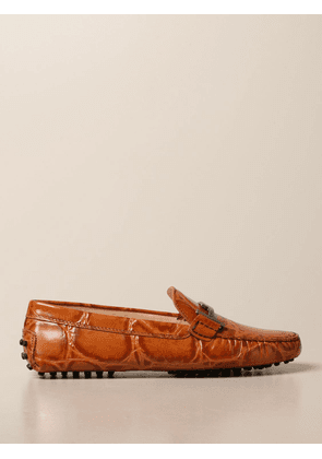 Tod's moccasin in crocodile print leather