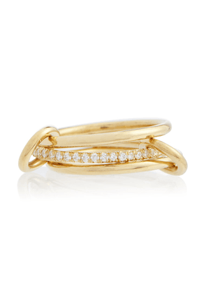Sonny 18kt yellow gold linked rings with diamonds