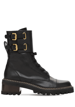 40mm Mallory Leather Ankle Boots