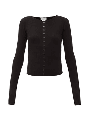 Lemaire - Round-neck Rib-knitted Sweater - Womens - Black