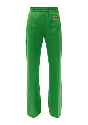 Gucci - GG-patch Jersey Track Pants - Womens - Green