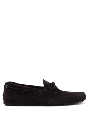 Tod's - Gommino Suede Driving Shoes - Mens - Black
