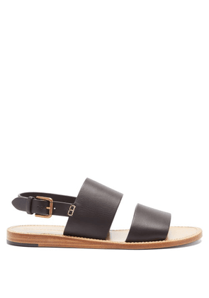Dolce & Gabbana - Back-strap Leather Sandals - Mens - Black Brown