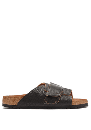 Birkenstock - Kyoto Grained-leather Sandals - Mens - Black