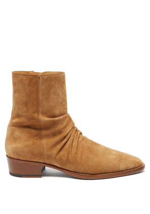 Amiri - Stack Suede Boots - Mens - Brown