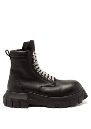Rick Owens - Army Bozo Tractor Lace-up Leather Boots - Mens - Black