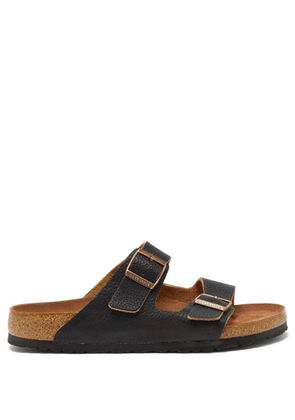 Birkenstock - Arizona Two-strap Grained-leather Sandals - Mens - Black