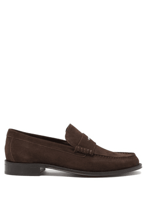 Paul Smith - Lucky Artist-stripe Suede Penny Loafers - Mens - Brown