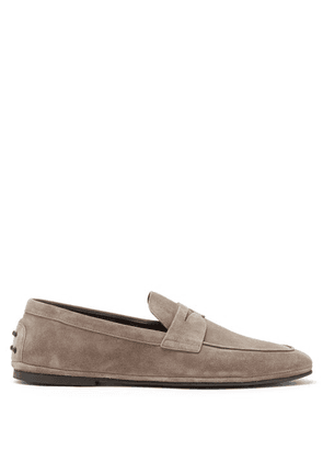 Tod's - Suede Penny Loafers - Mens - Light Brown