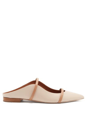 Malone Souliers - Maureen Leather Backless Loafers - Womens - Cream