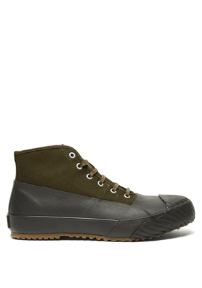 Moonstar - Alweather High-top Canvas And Rubber Trainers - Womens - Khaki