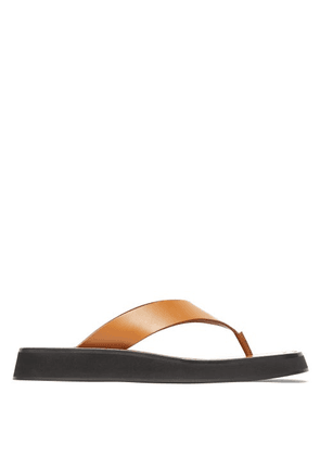 The Row - Ginza Leather Sandals - Womens - Tan