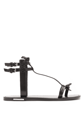 Isabel Marant - Jint T-bar Leather Sandals - Womens - Black