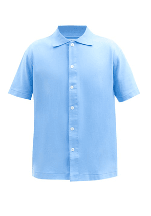 Lady White Co. - Buttoned Cotton-jersey Polo Shirt - Mens - Light Blue