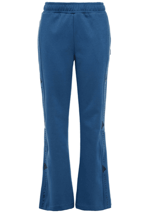 Adidas By Stella Mccartney Image Printed Organic Cotton-jersey Flared Track Pants Woman Cobalt blue Size M