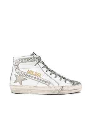Golden Goose Slide Sneaker in White. Size 38.