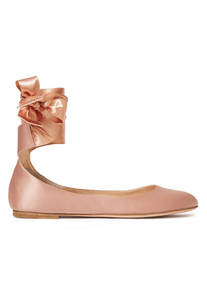 Gianvito Rossi Odette Satin Ballet Flats Woman Antique rose Size 36