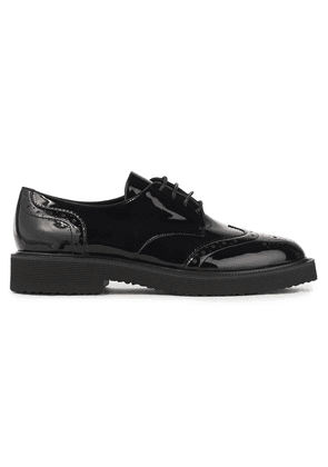 Giuseppe Zanotti Hilary Perforated Patent-leather Brogues Woman Black Size 35