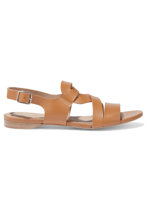 Iris & Ink Mabel Leather Slingback Sandals Woman Sand Size 37