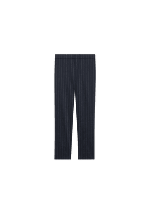 Theory Treeca Pull-on Pant In Pinstripe Linen