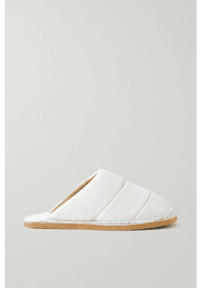 Dries Van Noten - Quilted Leather Slippers - White
