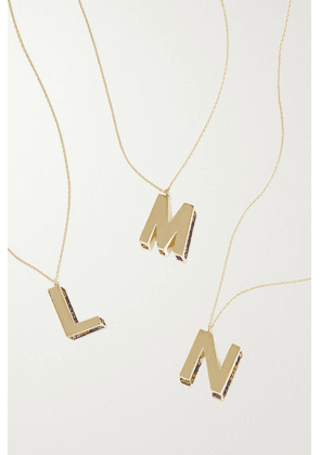 Charms Company - Initials 14-karat Gold Sapphire Necklace
