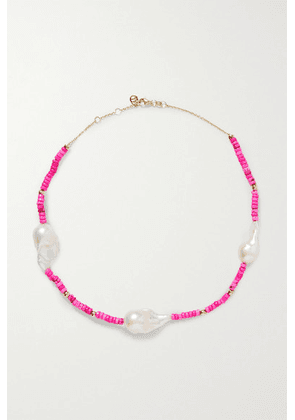 Charms Company - Les Bonbons 14-karat Gold, Pearl And Bead Necklace