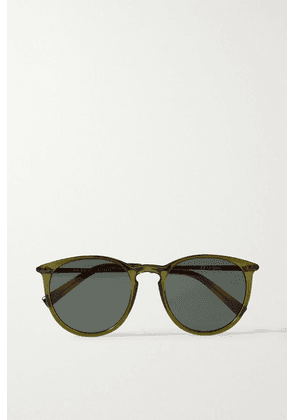 Le Specs - Oh Bouy Round-frame Acetate Sunglasses - Army green