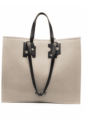 Off-White Repeat shopping tote bag - Brown