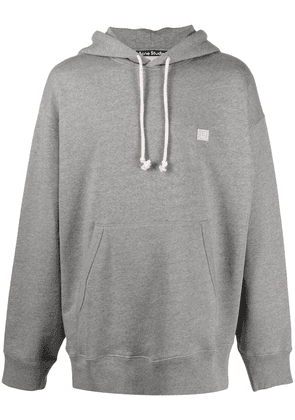 Acne Studios face patch oversized hoodie - Grey