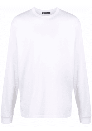 Acne Studios face-patch long-sleeve T-shirt - White