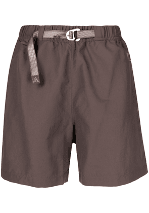 Nike belted straight-leg track shorts - Brown