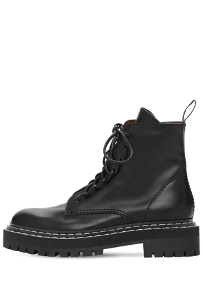 30mm Lug Leather Combat Boots