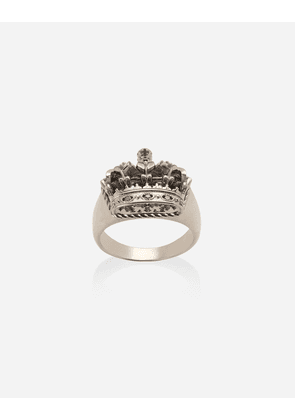Dolce & Gabbana Jewelry - Crown white gold crown ring WHITE male 64