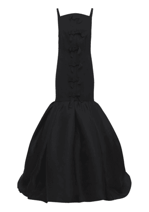 Stretch Fluid Crepe Gown
