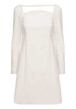 Stretch Double Wool Tailored Mini Dress