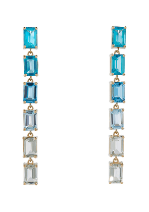 Dawn 14kt yellow gold earrings with topaz