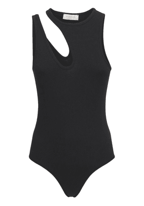 Slashed Ribbed Bodysuit