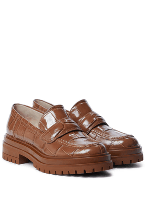 Argo croc-effect leather loafers